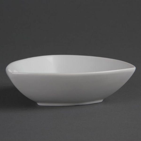 Olympia Whiteware dreieckige Schalen 15,5cm; Inhalt: 6 Stück