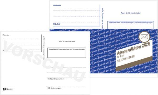 Adressetikett, A6 quer, Handbeschriftung, selbstklebend, Papier, weiß