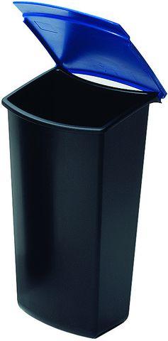 Abfalleinsatz MONDO, Kst., Klappdeckel, 3l, blau