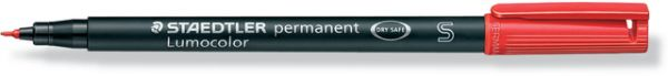 OH-Stift, Lumocolor® 313, S, perm., Rsp., 0,4 mm, Schreibf.: rot