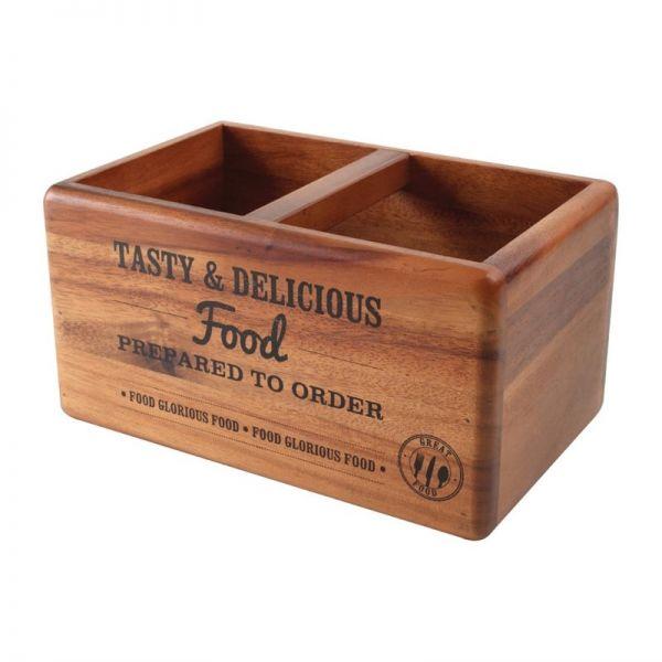 T&G Woodware Tischbutler mit Tafel