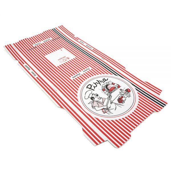 100 Stück: 260x260x40 mm Pizzakarton extra hoch, weiß