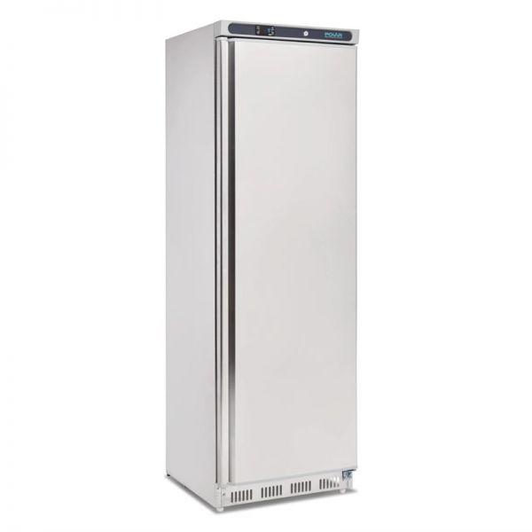 Polar Kühlschrank Edelstahl 400L