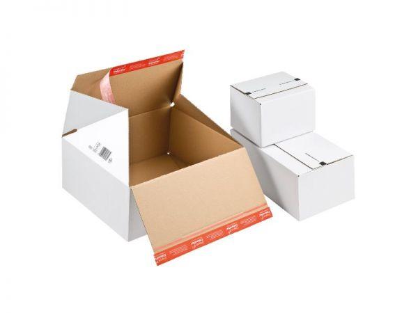10 Stück: 306x186x127 mm Wiederverschließbare Kartons, weiß