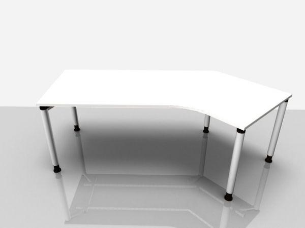 Abgewink.Tisch re. Rialto Pro, 2.170x800/1.000x680-820mm, grau