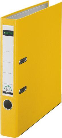 Ordner Plastik, PP-kasch., Einsteckrückenschild, A4, 52mm, gelb