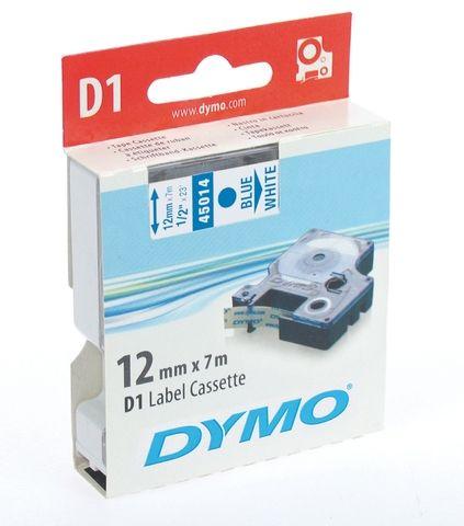 Schriftbandkassette, D1, 12 mm x 7 m, blau auf weiß