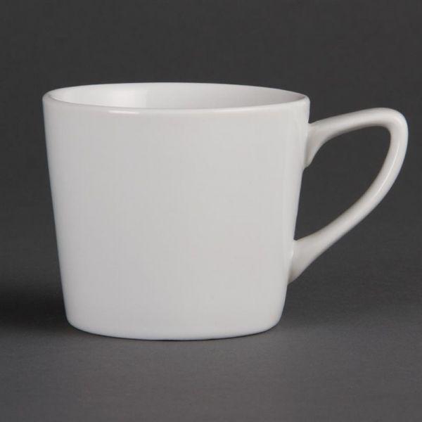 Olympia Whiteware niedrige Kaffeetassen 20cl