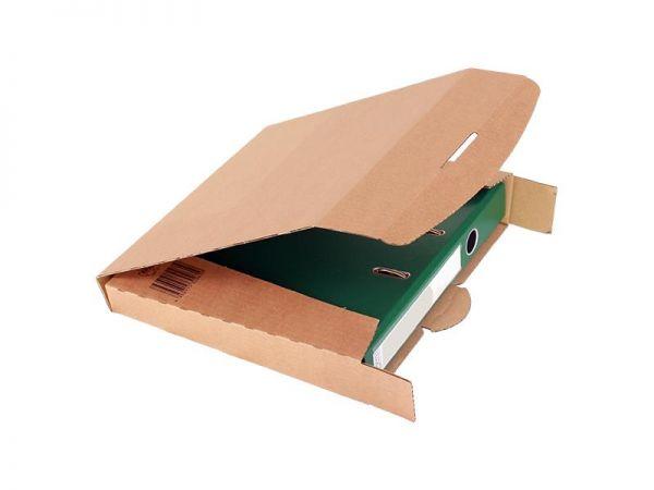 20 Stück: 320x288x50 mm Ordner-Transport-Box A4 braun