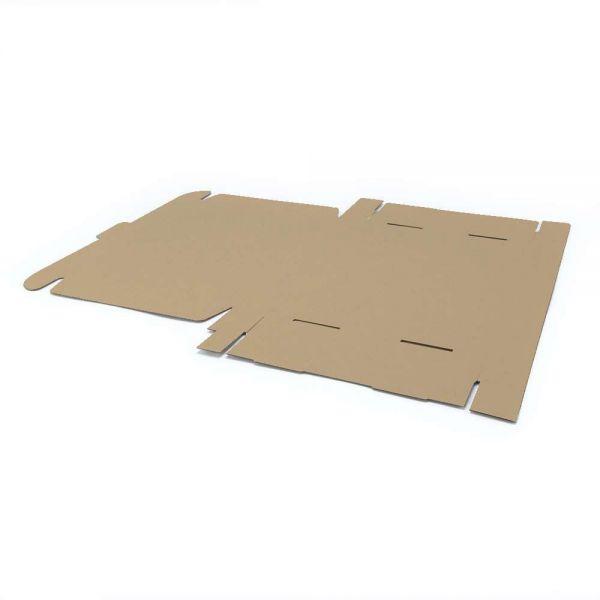 5 Stück: 500x400x90 mm einwelliger Faltkarton