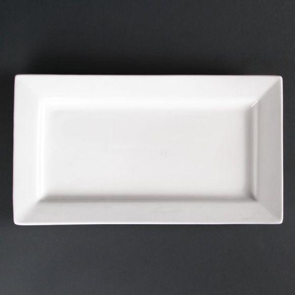 Lumina rechteckige Teller mit breitem Rand 31cm; Inhalt: 2 Stück