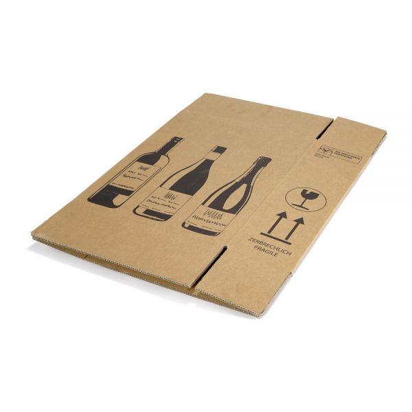 10 Stück: 305x108x368 mm 3er Flaschenkarton