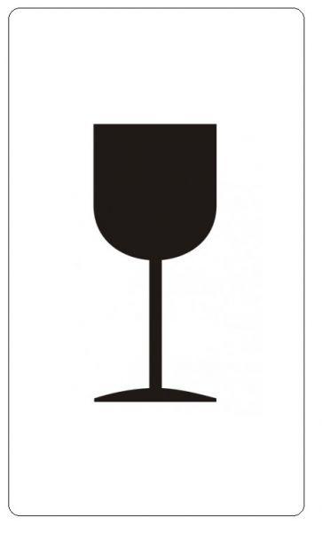 1000 Etiketten zur Transportsicherung: Vorsicht zerbrechlich (Glas)