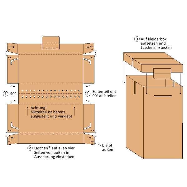 560x510x1240 mm Kleiderkarton