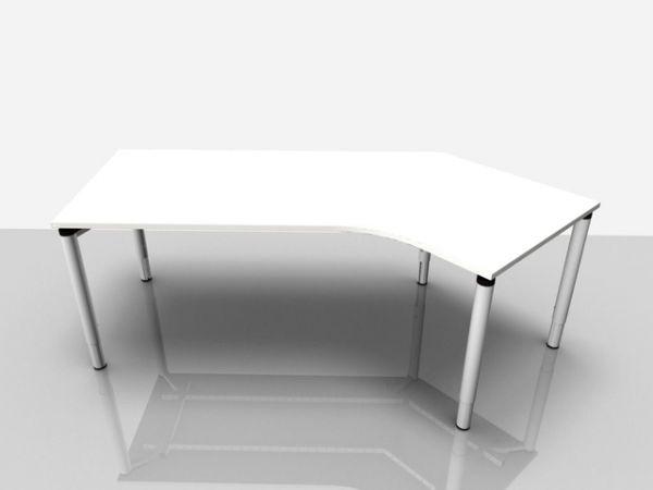 Abgewink.Tisch re. Rialto Pro Komf., 2.170x800/1.000x620-850mm, grau