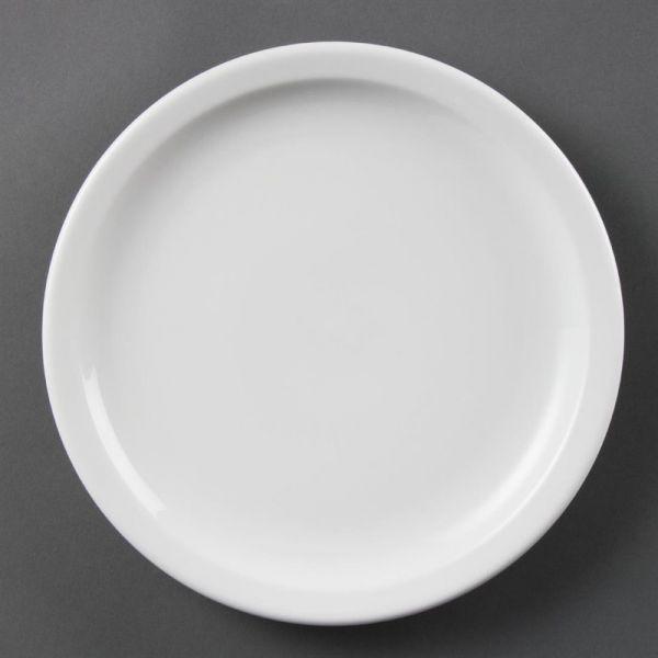 Olympia Whiteware Teller mit schmalem Rand 23cm; Inhalt: 12 Stück