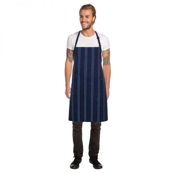 Chef Works Presidio Latzschürze mit Satinstreifen marineblau