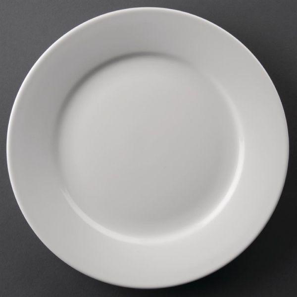 Athena Hotelware runde Teller mit breitem Rand 22,8cm; Inhalt: 12 Stück
