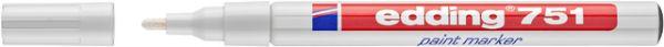 Lackmarker, 751, Rundspitze, 1 - 2 mm, Schreibf.: weiß