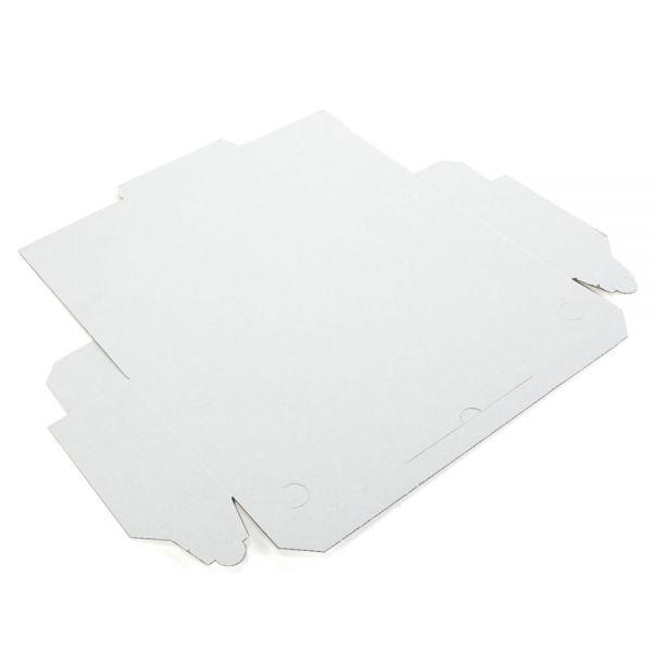 100 Stück: 400x160x65 mm Pizzakarton blanko (Baguette), weiß