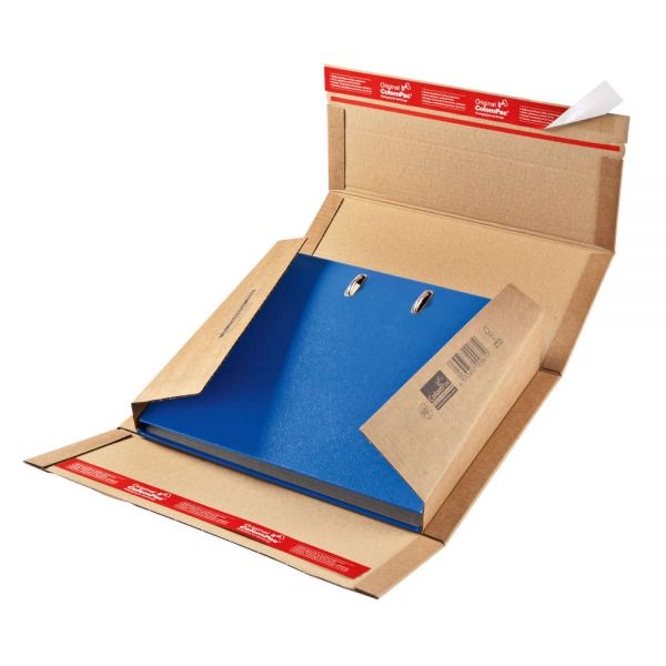 20 Stück: 320x290x35-80 mm Ordner-Verpackung Wiederverschließbar