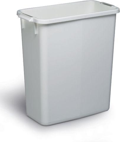 Abfalleimer DURABIN 60, Kunststoff, rechteckig, 60l, 555x285x615mm, we