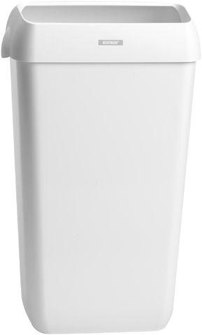Abfalleimer, Deckel, 25 l, 330 x 230 x 550 mm, weiß