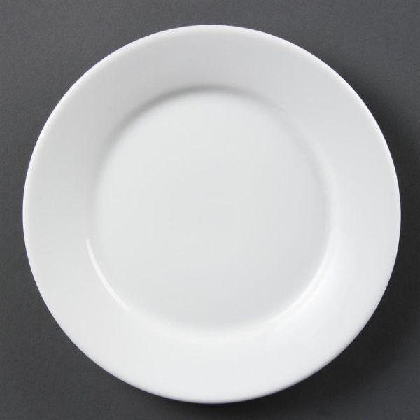 Olympia Whiteware Teller mit breitem Rand 23cm