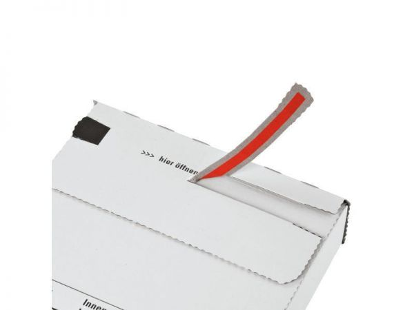 100 Stück: 344x244x15 mm Großbrief Karton, weiß