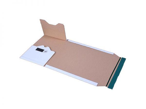 20 Stück: 300x220x0-80 mm A4 Buchverpackung, weiß