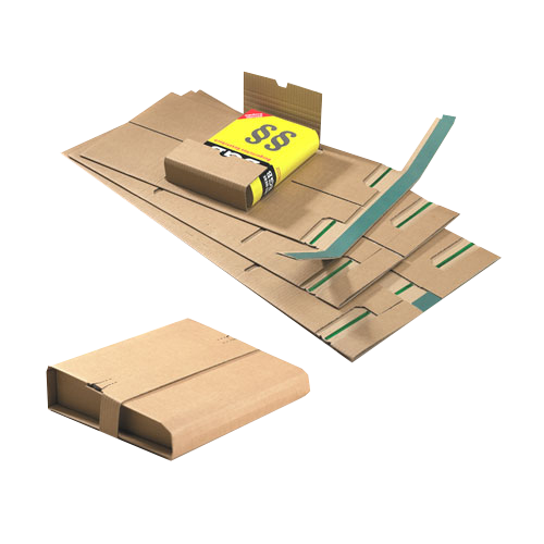 20 Stück: 248x185x0-80 mm B5 Buchverpackung