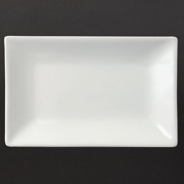 Olympia Whiteware rechteckige Servierteller 20 x 13cm