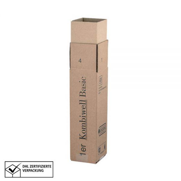 20 Stück: 110x110x360 mm 1er Kombiwell Flaschenkarton Basic