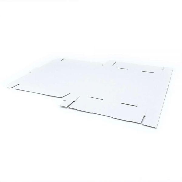 10 Stück: 350x250x50 mm Maxibrief Karton (Außenmaß), weiß