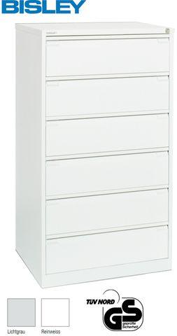 Aktenschrank Karteischrank 3-bahn, 1.321x800x622mm, weiß