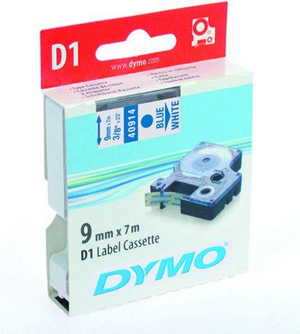 Schriftbandkassette, D1, 9 mm x 7 m, blau auf weiß