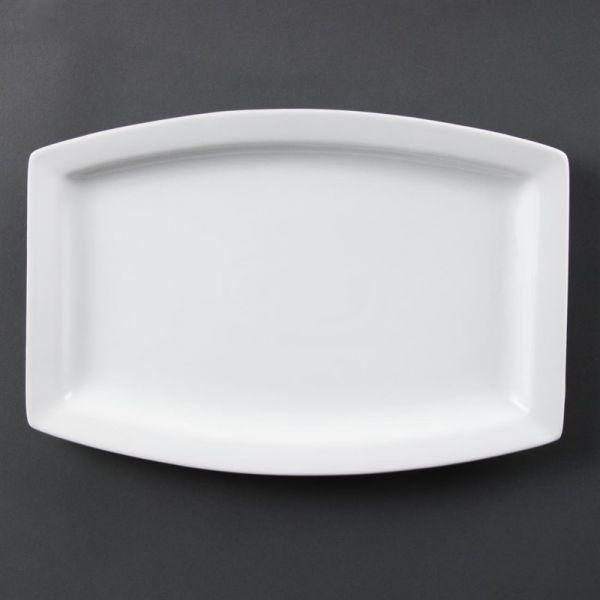 Olympia Whiteware rechteckige Teller 32 x 21cm; Inhalt: 6 Stück