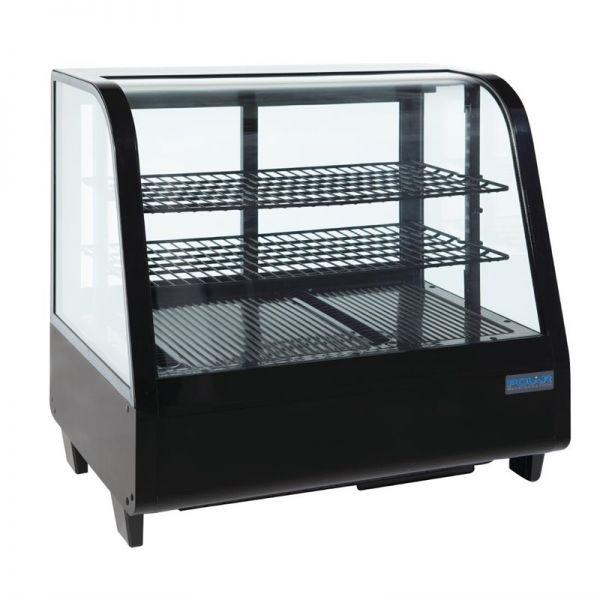 Polar Kühlvitrine schwarz 100L