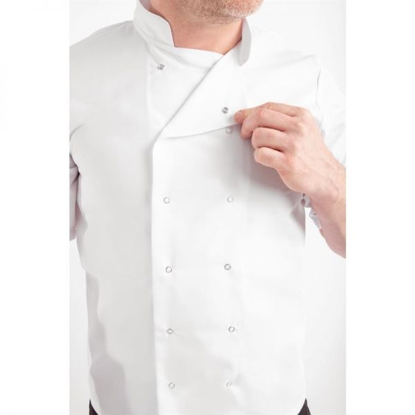 Whites Vegas Kochjacke kurze Ärmel weiß XS