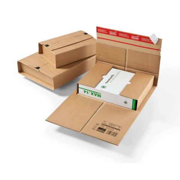 20 Stück: 350x320x0-80 mm Universal-Versandverpackung