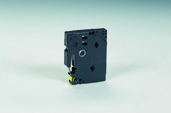 Schriftbandkassette TZe, PES, laminiert, 12 mm x 8 m, schwarz auf gelb