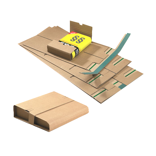 20 Stück: 320x290x0-80 mm Buchverpackung Ordner