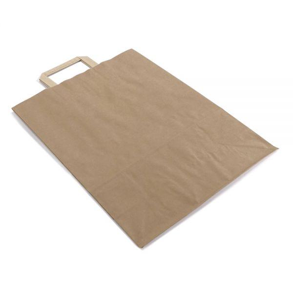 250 Papiertragetaschen mit Griff 220x105x280 mm braun
