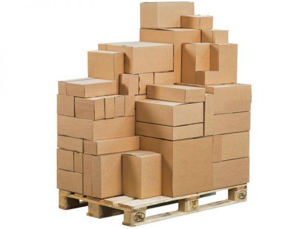 10 Stück: 394x394x387 mm Paletten-System-Kartons
