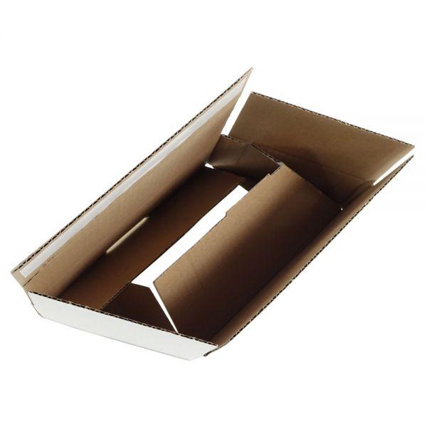 20 Stück: 210x140x80 mm Wiederverschließbare Kartons, weiß