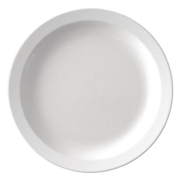 Kristallon Teller mit schmalem Rand weiß 26,7cm; Inhalt: 12 Stück