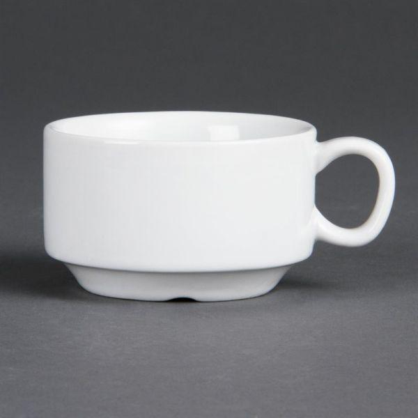 Olympia Whiteware stapelbare Espressotassen 8,5cl
