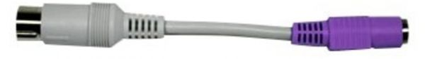 Adapterkabel, DIN/PS/2 - Stecker/Buchse, grau/violett