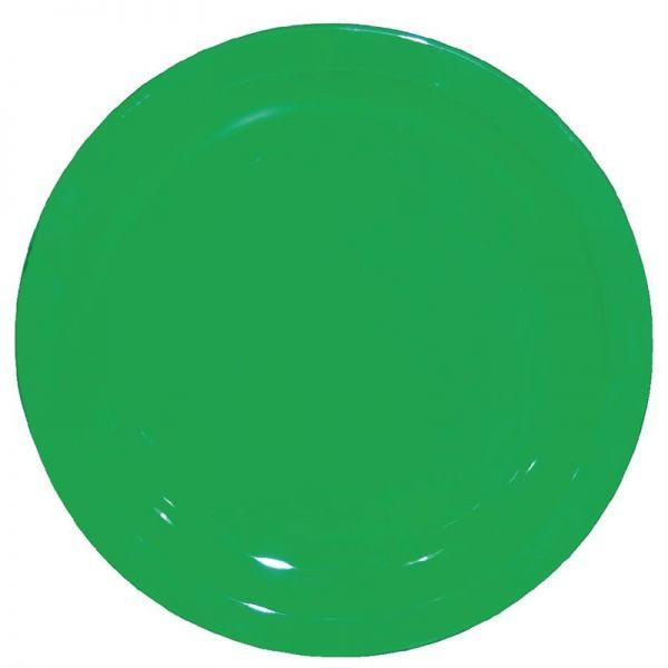 Kristallon Teller grün 23cm; Inhalt: 12 Stück