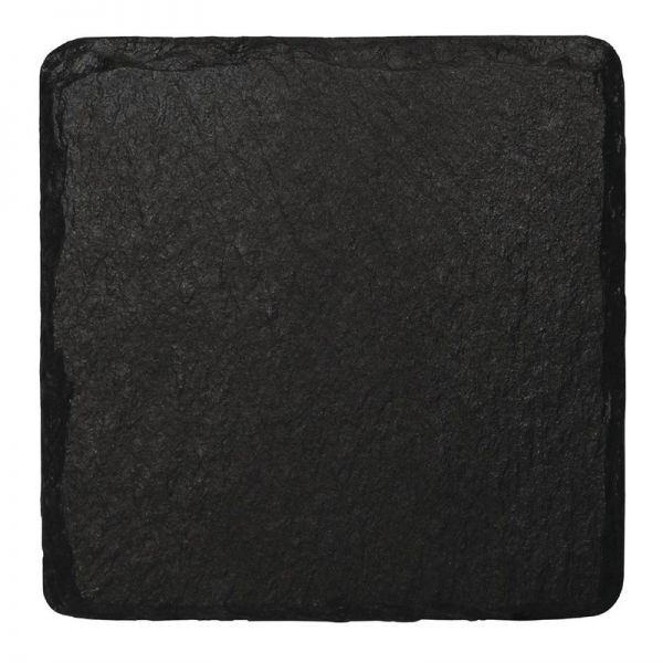 Olympia viereckige Schieferplatten 13 x 13cm; Inhalt: 4 Stück